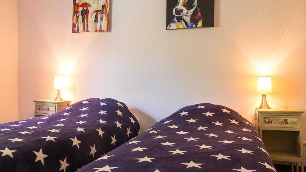 Gezellige slaapkamers met hele fijne bedden